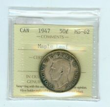 1947 Maple Leaf Canadian Half Dollar--Scarce Variety!