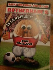 Son in law Happy birthday greetings card - Rotherham fan