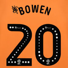 2019 2020 OFFICIAL HULL CITY HOME BOWEN 20 NAME SET = PLAYER SIZE