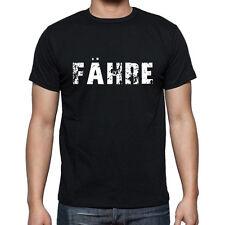f‰hre, Herren Tshirt Schwarz, Hommes Tshirt Noir, Geschenk, Cadeau