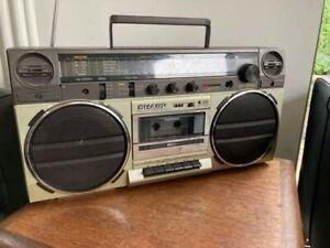 Vintage Retro - Sharp GF6565E Ghetto Blaster - Radio Cassette - Please Read Info