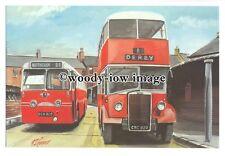 tm5720 - Trent Buses DCH 905 & CRC 829 at Nottingham - art G S Coopper postcard