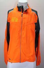 Saucony Mens Vizipro Neon Orange Running Jacket size Small Medium 46 EUC