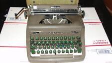 1950 Royal Quiet De Luxe Deluxe Typewriter w/ Green Keys Manual Portable w/ Case