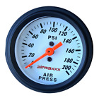 Single Needle Air Gauge 200 Psi Air Ride Suspension System 2 White Face Led