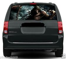 Grim Reaper in Woods Rear Car or Caravan Window Vehicle Graphic Sticker Decal RV
