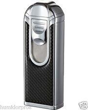 VISOL Yozora 4 Quad Jet Torch Carbon Fiber Large Capacity Butane Table Lighter