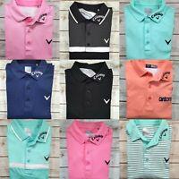 Men Callaway Polo Tour Issue Pro Golf Odyssey Opti Dri Shirt M Rare CHOOSE COLOR
