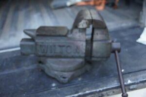 "Vintage Wilton  Vise 5"" on swivel base USA"