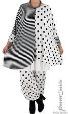 LAGENLOOK Streifen Punkte Shirt Tunika Oversize XL-XXL-XXXL 46 48 50 52 54 56 58