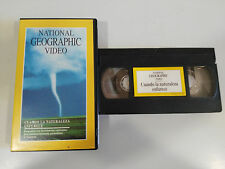CUANDO LA NATURALEZA ENFURECE - VHS TAPE CINTA NATIONAL GEOGRAPHIC VIDEO