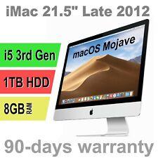 "Apple iMac 21.5"" Late 2012 i5-3330S 2.7GHz 8GB 1TB MD093LL/A newest macOS Mojave"