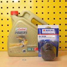 SUZUKI 600 oelwechselset ACEITE FILTRO Original Castrol Power 1 Racing 10w50 4t