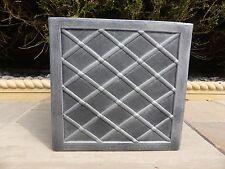 Antico al piombo grigio quadrato in resina giardino fioriera vaso da interno esterno.