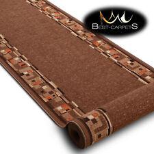 Runner Rugs, BOMBAY brown, modern NON-slip, Stairs Width 67cm-100cm extra long