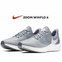 Nike Air Zoom Winflo 6 Womens Running Shoe Sneakers AQ8228 Cool Grey size 8 9