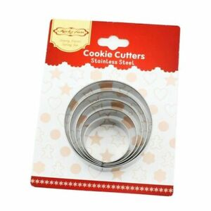 5pcs Biscuits Mold Set Cookie Cutter Stainless Steel Gingerbread Cake Decorating
