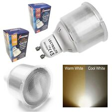PACK of GU10 WARM OR COOL WHITE 11w=50w LIGHT BULBS LAMP 2 PIN LOW ENERGY 240v