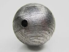 GIBEON IRON METEORITE ROUND BEAD 10mm - 3.3 g (solid) Original Natural Color