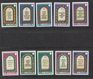 ANGUILLA - 526-535 - MNH - 1983 - TEN COMMANDMENTS - EASTER