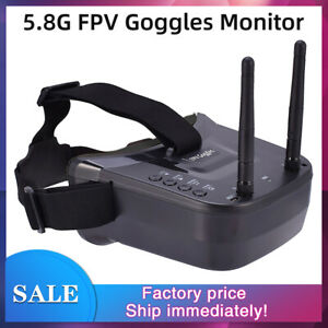 5.8G FPV Goggles 40CH Dual Antennas Monitor Video Glasses for RC Drone