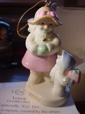 Lenox 2001 Especially for You Porcelain Ornament w/24 Kt Gold Nib Exclusive Ed