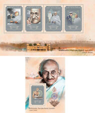 Mahatma Gandhi India Independence Politics Guinea MNH stamp set
