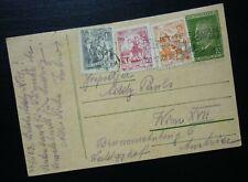 Yugoslavia 1953 Croatia Austria Uprated Postal Stationery  C15