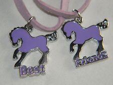 Freundschaftskette Best Friend Mädchenkette Pferd lila 30052