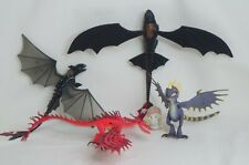LOT OF 5 How To Train Your Dragon Toothless Hookfang Deadly Nadder Bewilderbeast