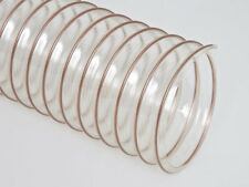 "Clear Flexible Urethane Woodworking Dust Collection Hose 6"" ID x 25'"