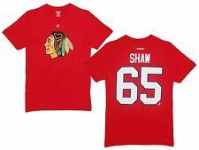 NHL Eishockey  T-Shirt CHICAGO BLACKHAWKS Andrew Shaw 65 rot
