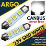 SMD Led Alta Potencia 239 272 C5w sin Error Matrícula Reg Luz Bombillas Blancas