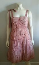 Marc by marc jacobs pink polka dot ruched party cocktail prom dress 6