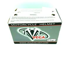 Vega Motorcycle Helmet Half Helmet XL Silver Visor DOT