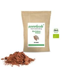 Powerfoodz Bio Kakao Pulver 1kg stark entölt Kakaopulver 1000g DE-ÖKO-006