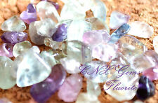 Tumbled Gemstone Natural Crystal Fluorite ChipStone 5g Drilled DIY Craft
