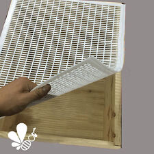 Frame Bee Queen Excluder Trapping Net Grid Beekeeping Plastic Tool White