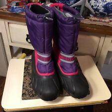 SOREL Winter Snow Boots Removable Felts Girls Youth Size EUR- 39-US 8