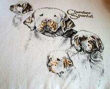 "Clumber Spaniel T-shirt "" Natural "" Sm ( 34 ~ 36 )"
