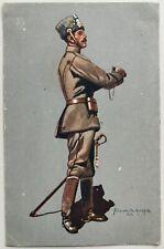 Vintage WW1 german soldier postcard by Lüschwitz-Koreffski mailed 1916