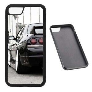 Black R33 GTR RUBBER phone case Fits iPhone