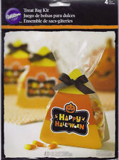 Candy Corn Halloween Treat Bag Wrap Kit 4 ct from Wilton #0448 - NEW