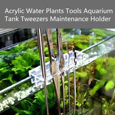 Acrylic Water Plants Tool Maintenance Side Holder Aquarium Tank Tweezer Scissors