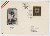 ÖSTERREICH 1950 ERSTTAG-BRIEF, GRAZ nach HITTISAU