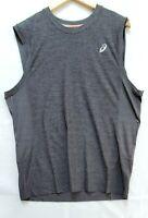 ASICS Men's Lite-Show Sleveless Running Gym Top Clothes MR3047 Heathr Gray Sz XL