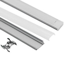 12pcs Aluminium Floor Profile Channel With Milky Diffuser for LED Strip Light 1M