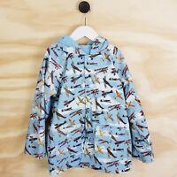 Size 6 - 7 POWELL CRAFT England Boys Vintage Planes Raincoat Jacket