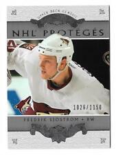2003-04 UD CLASSIC PORTRAITS NHL' PROTEGES # 193 FREDRIK SJOSTROM 1026/1150 !!