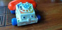 Fisher Price chatter telephone vintage des années 80 jouet ancien